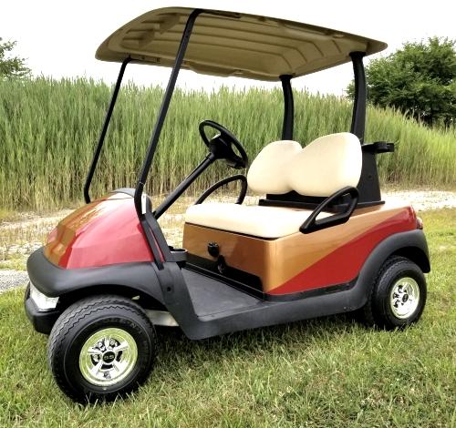 48v Custom Paint Club Car Precedent Electric Golf Cart With Ss