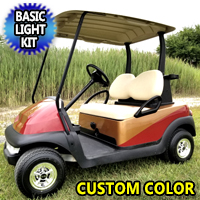 48V Custom Paint Club Car Precedent Electric Golf Cart With SS Wheels & Light Kit