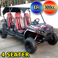 300cc 4 Seater UTV Golf Cart Gas Adult Size Utility Vehicle TrailMaster Challenger 300E