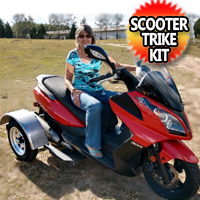 Scooter Trike Kit for Honda Kawasaki Suzuki & Yamaha Universal Easy Fit Kit