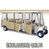 Brand New Club Car Villager 8 Sunbrella Golf Cart Enclosure