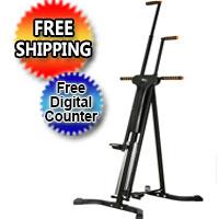 Black Vertical Climber Cardio Workout Fitness Climbing Training Machine w/ Digital Timer