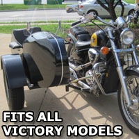 Euro RocketTeer Side Car Motorcycle Sidecar Kit - All Victory Models