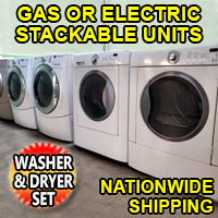 Reconditioned Front Load Washer & Dryer Combo Electric or Gas Stackable Units
