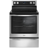 Whirlpool WFE770H0FZ Stove 6.4 Cu. Ft. Freestanding Electric Range with Fingerprint-Resistant Stainless Steel - New w/Tiny Cosmetic Blemish