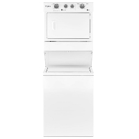 White Laundry Center with 3.5 cu. ft. Washer and 5.9 cu. ft. Gas Dryer with 9 Wash Cycles & AutoDry - Scratch/Dent Model - WGT4027HW