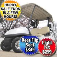48V Club Car Golf Cart - White Moon Edition