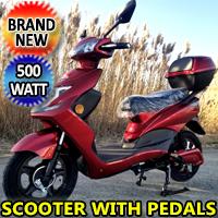 500 Watt Wizzer Electric Motor Scooter Moped - YW