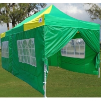 High Quality 10x20 Green/Yellow EZ Pop Up 6 Wall Canopy Party Tent Gazebo