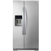Whirlpool WRS571CIHZ 20.6-cu ft Counter-Depth Side-by-Side Refrigerator with Ice Maker Fingerprint Resistant Stainless Steel - New w/Tiny Cosmetic Blemish