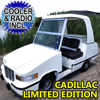 Club Car Electric Golf Cart Cadillac Deville Style With Ice Chest & Radio