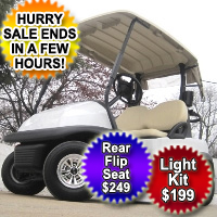 48V Club Car Golf Cart - White Moon Edition