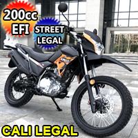 200cc Lifan X-Pect EFI Dual Sport Street Legal Motorcycle Enduro Dirt Bike w/ 5 Speed Manual Transmission