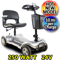 Mobility Scooter Street Creeper 250 Watt 24v Electric Powered Four Wheeled Scooter - X01