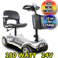 Mobility Scooter Street Creeper 180 Watt 24v Electric Powered Four Wheeled Scooter - X01