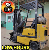 Yale Forklift 5,000 Lift Cap. Heavy Duty Propane Forklift With 3,800 Hrs - 3 Stage Mast