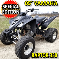 2005 Yamaha Raptor 350 Special Edition 350cc Quad Atv - Excellent Condition