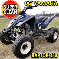 2006 350 Yamaha Raptor Special Edition 350cc Atv Quad - Super Clean