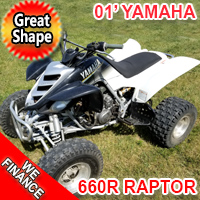 2001 Yamaha 660R Raptor Atv Four Wheeler Quad - Great Shape!