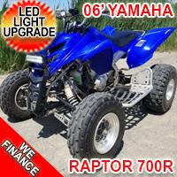 2006 700cc Yamaha Raptor 700R Atv Quad - LED Light Upgrade