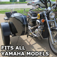 Euro RocketTeer Side Car Motorcycle Sidecar Kit - All Yamaha Models