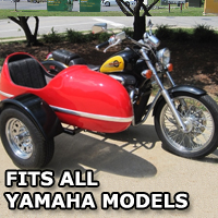 RocketTeer Side Car Motorcycle Sidecar Kit - All Yamaha Models