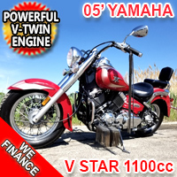 2005 Yamaha V Star 1100cc Motorcycle Classic Bike - EXCELLENT CONDITION