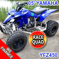 2005 Yamaha YFZ450 450cc Atv Race Quad - Excellent Condition