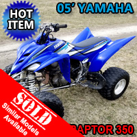 2005 Yamaha Raptor 350 Atv Four Wheeler Quad - Excellent Condition