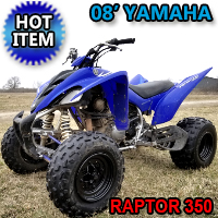 2008 Yamaha Raptor 350 Atv Four Wheeler Quad - Good Condition