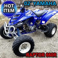 2002 Yamaha Raptor 660R Atv Four Wheeler Quad - Extremely Clean - Extremely Fast!