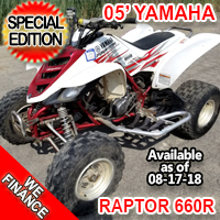 2005 Yamaha Raptor 660R Atv Four Wheeler Quad - Special Edition!