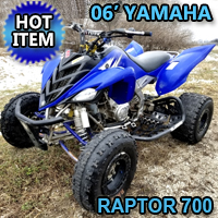 2006 Yamaha Raptor 700 Quad Atv Four Wheeler - Excellent Condition