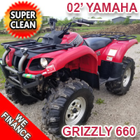 2002 Yamaha Grizzly 660 Ultramatic Atv Four Wheeler Utility Quad - Super Clean!