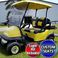 48v Electric Super Bee Club Car w/ Custom Seats & Light Kit