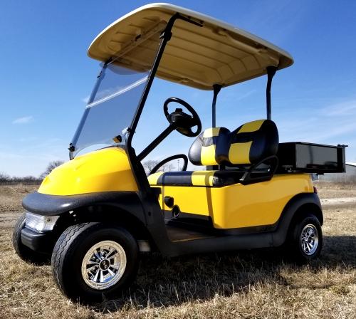 48v Electric Mellow Yellow Club Car Golf Cart W Custom