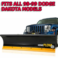 Fits All Dodge Dakota 08-11 Models - Meyer Home Plow Hydraulically-Powered Lift w/Both Wireless & Wired Controllers - Auto-Angle Snow Plow
