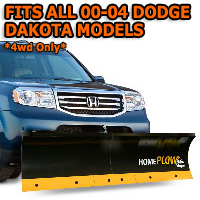 Fits All Dodge Dakota 00-04 Models - Meyer Home Plow Basic Manual Lift Snowplow