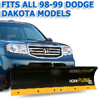 Fits All Dodge Dakota 98-99 Models - Meyer Home Plow Basic Manual Lift Snowplow