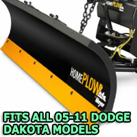 Fits All Dodge Dakota 05-11 Models - Meyer Home Plow Snow Plow - Hydraulic - Power Angling