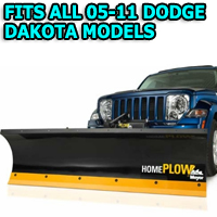 Fits All Dodge Dakota 05-11 Models - Meyer Home Plow Hydraulically-Powered Lift w/Both Wireless & Wired Controllers - Auto-Angle Snow Plow