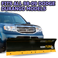 Fits All Dodge Durango 98-09 Models - Meyer Home Plow Basic Manual Lift Snowplow