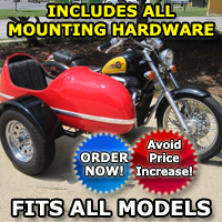 RocketTeer Side Car Motorcycle Sidecar Kit - All Brands