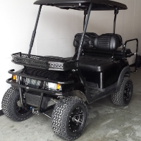 Street Legal 48V Black Club Car Precedent Electric Golf Cart W/ Monster Suspension and Stereo System