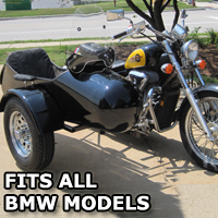 Standard RocketTeer Side Car Motorcycle Sidecar Kit - Fits BMW Models