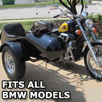 Standard RocketTeer Side Car Motorcycle Sidecar Kit - Fits BMW Models