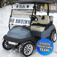 48V Custom NCAA LSU Tigers Club Car Precedent Lifted Electric Golf Cart - Choose Your Team