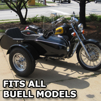Classical RocketTeer Side Car Motorcycle Sidecar Kit - Buell Models
