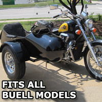 Standard RocketTeer Side Car Motorcycle Sidecar Kit - Buell Models