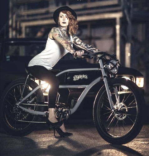 350 Watt Cafe Racer Board Track Cruiser Electric E Bicycle With Lithium  Battery